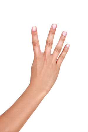 non verbal communication: Four fingers