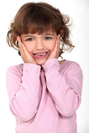 delightful: delightful little girl panic-stricken