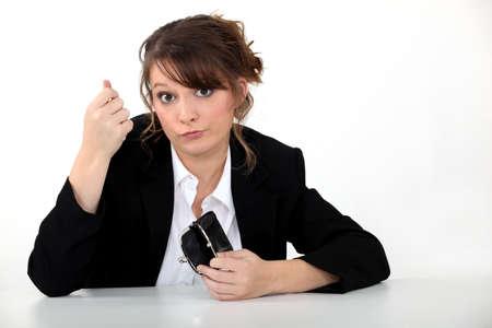 Penniless businesswoman Stock Photo - 13541588