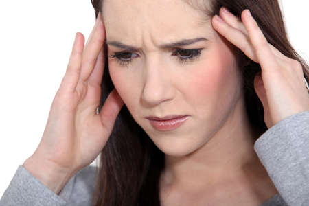 Woman with tension headache photo