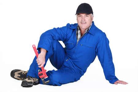 A mature plumber Stock Photo - 13541572