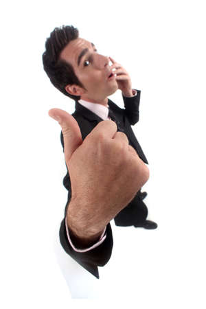 Businessman giving the thumb Stock Photo - 13541218