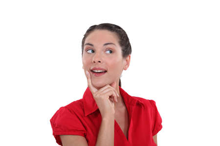 Excited smart woman Stock Photo - 13541194