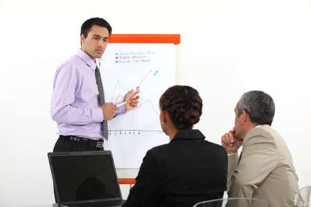 Businessman making a presentation photo
