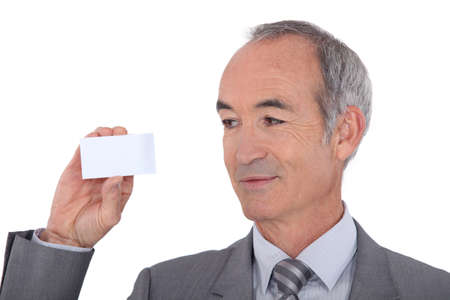 Man holding businesscard photo