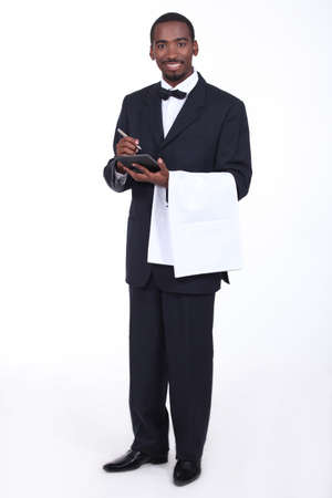 butler: Waiter taking an order Stock Photo