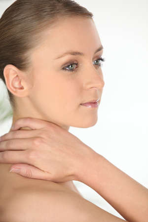 rubbing noses: Portrait of a sensual woman Stock Photo