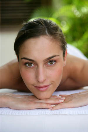 Woman at the spa photo