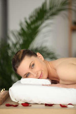 feels: Woman having a massage