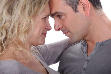 Couple facing each other Stock Photo - 13560383