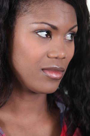 arched neck: Portrait of a doubtful woman