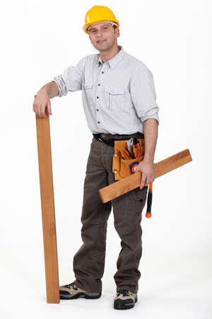 A male carpenter Stock Photo - 13560666