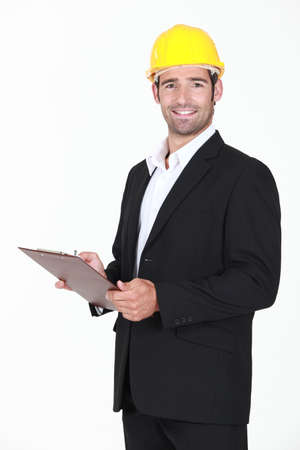 An architect with a clipboard  Stock Photo - 13560737