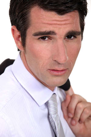 Portrait of a worried businessman Stock Photo - 13560588