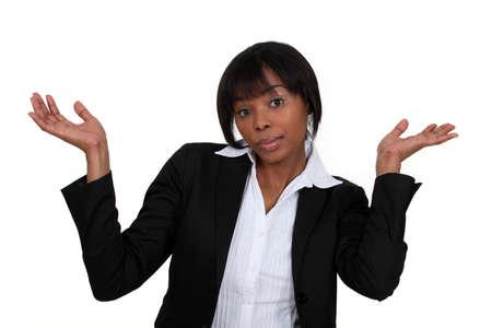 no idea: A clueless businesswoman