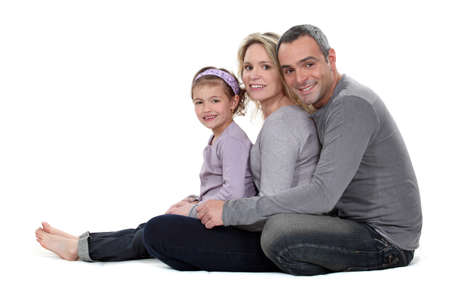Portrait of a couple with their daughter Stock Photo - 13561178