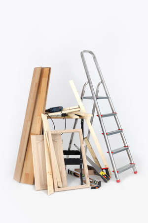 framer: Woodworkers equipment Stock Photo