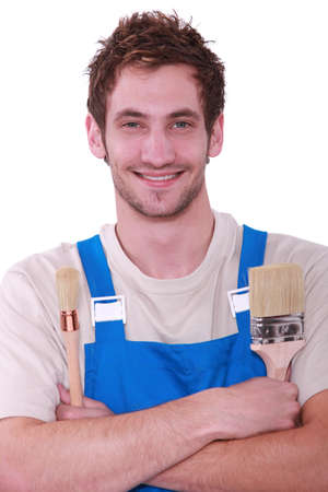 professional painter smiling photo