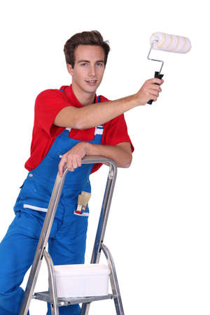 young house painter Stock Photo - 13583717