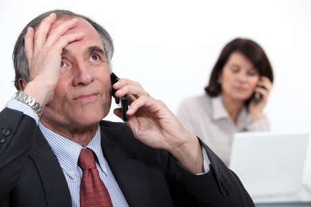 Stressful telephone call Stock Photo - 13582850