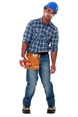 An injured construction worker  Stock Photo - 13583161