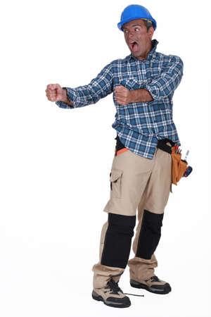 flannel: A deranged construction worker