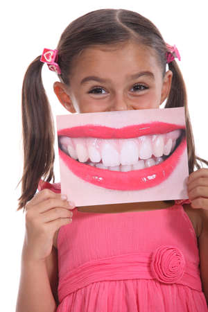 big mouth: Girl with a big smile Stock Photo