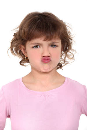 exasperate: little girl pouting