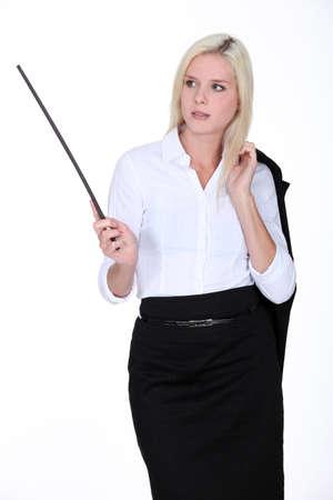 Blond woman photo