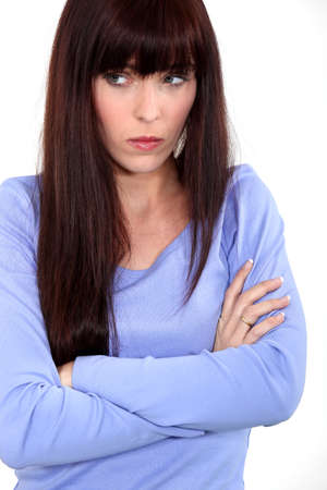 choleric: woman looking sad and angry