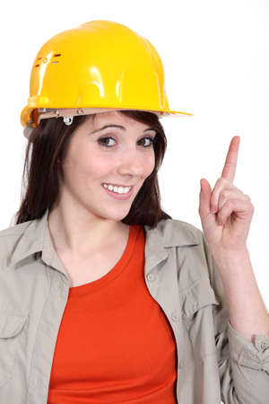 laborer: Woman laborer Stock Photo