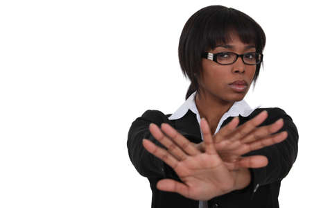 mani incrociate: Imprenditrice dire di no