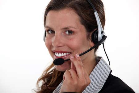Portrait of pretty receptionist Stock Photo - 13583146
