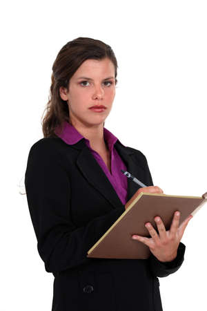 A businesswoman taking notes Stock Photo - 13583803