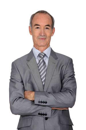 smirk: Portrait of a businessman