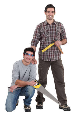 tradespeople: Portrait of a team of tradesmen Stock Photo