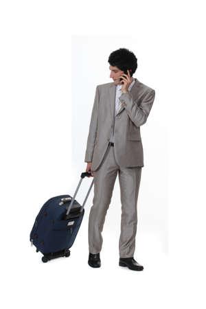 A businessman on a trip  photo