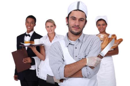 Mensen die werken in de dienstensector