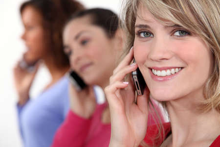 agreeable: Women on the phone