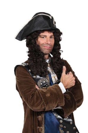 man dressed as a pirate photo