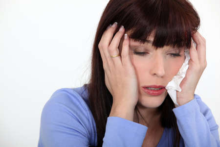 Woman suffering from cold Stock Photo - 13622071