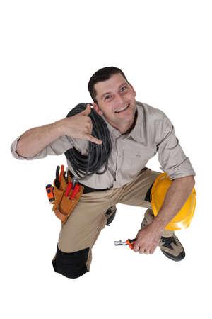 craftsman making a call sign photo