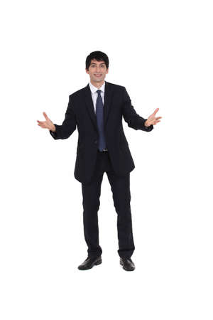 Businessman can Stock Photo - 13621653