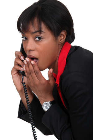 amasing: Businesswoman with look of surprise on her face