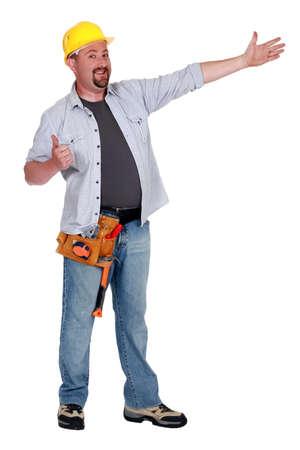 journeyman technician: Carpenter giving thumbs-up