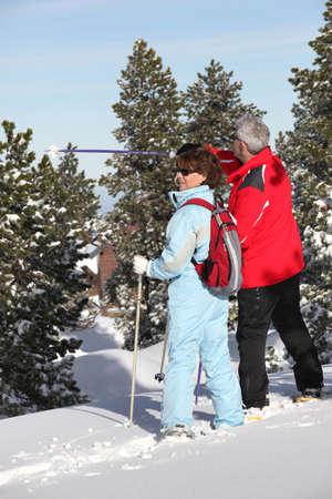 Senior ski couple Stock Photo - 13622003