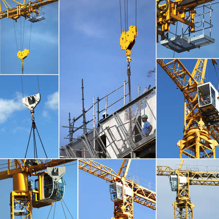 construction machinery: Montage on crane