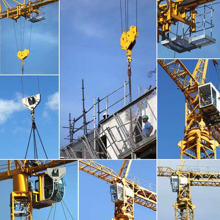crane parts: Montaje de la gr�a