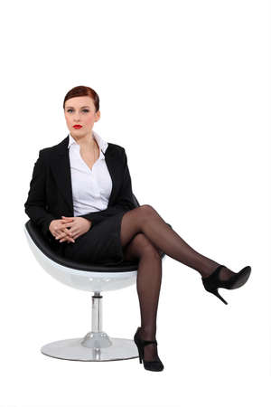 businesswoman skirt: businesswoman posing Stock Photo