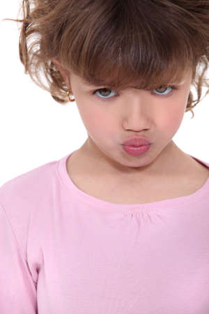 怒っている女の子